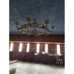 Chandelier installation at Russian Orthodox Church