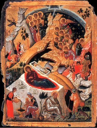 Icon of the Nativity of Christ (Christmas)