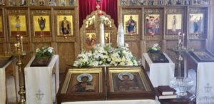 Icons of Christ and St Nicholas