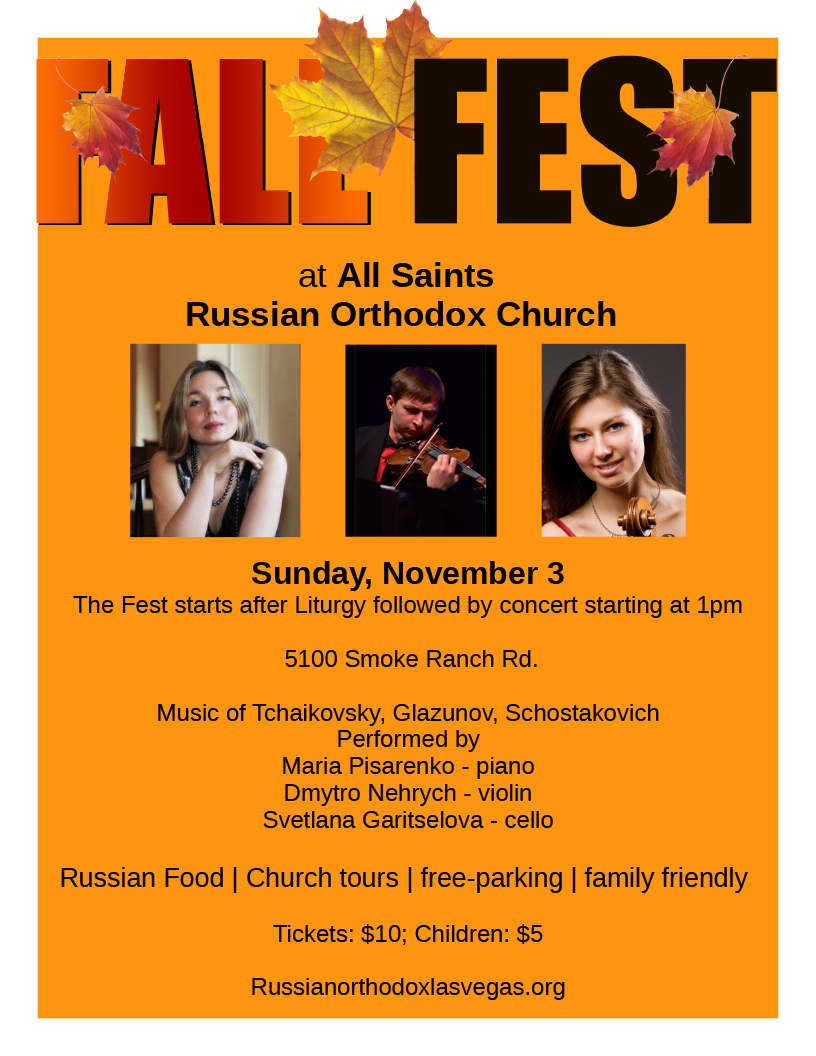 Russian Community Events: Fall Fest - November 3, 2019