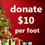Crown moulding: donate $10 per foot