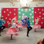 Russian dancers perfoming at the All Saints Russian Orthodox Church in Las Vegas, Nevada