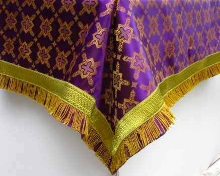 Purple altar cover