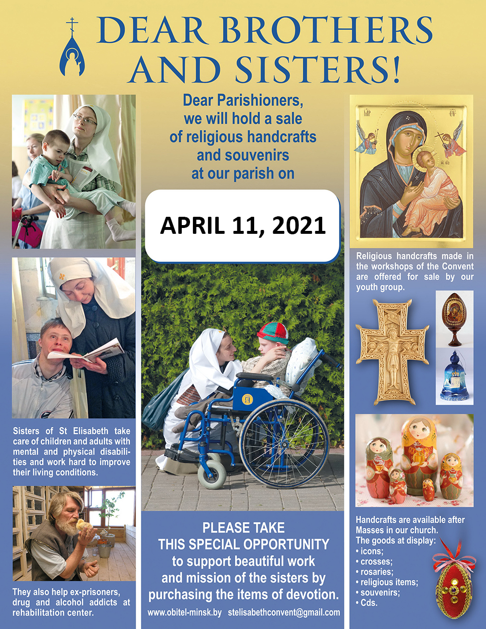 Sale of religious items from St Elisabeth Convent 11 Apr 2021